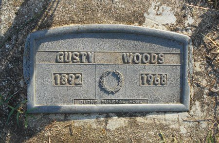 WOODS, GUSTY - Howell County, Missouri | GUSTY WOODS - Missouri Gravestone Photos