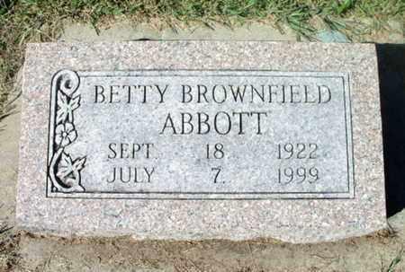 BROWNFIELD ABBOTT, BETTY - Howell County, Missouri | BETTY BROWNFIELD ABBOTT - Missouri Gravestone Photos