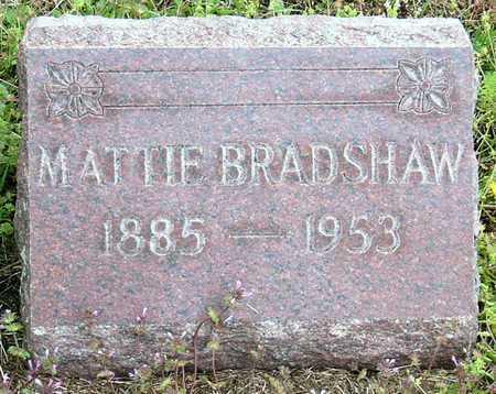 "BRADSHAW, MARTHA JANE ""MATTIE"" - Jasper County, Missouri | MARTHA JANE ""MATTIE"" BRADSHAW - Missouri Gravestone Photos"