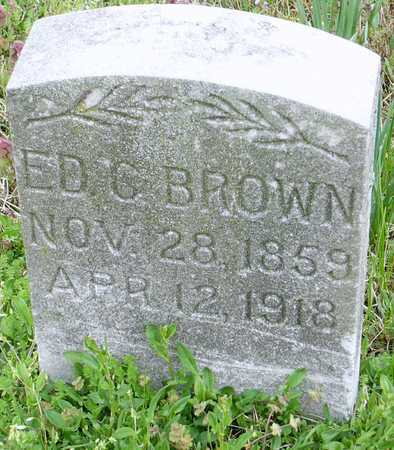 BROWN, EDWARD C - Jasper County, Missouri | EDWARD C BROWN - Missouri Gravestone Photos