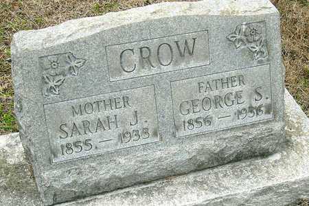 MCGARY CROW, SARAH J - Jasper County, Missouri | SARAH J MCGARY CROW - Missouri Gravestone Photos