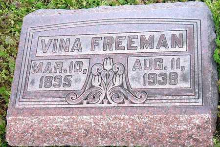 WEST FREEMAN, VINA - Jasper County, Missouri | VINA WEST FREEMAN - Missouri Gravestone Photos