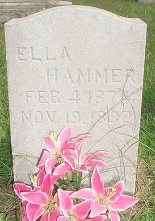 HAMMER, ELLA - Jasper County, Missouri | ELLA HAMMER - Missouri Gravestone Photos