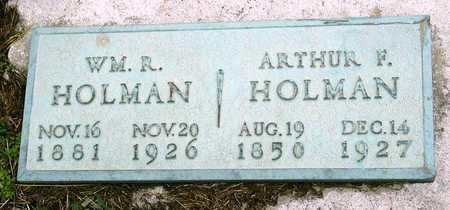 HOLMAN, WILLIAM R - Jasper County, Missouri | WILLIAM R HOLMAN - Missouri Gravestone Photos