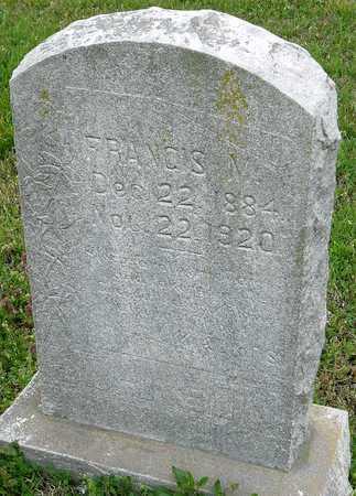 JOHNSON, FRANCIS M - Jasper County, Missouri | FRANCIS M JOHNSON - Missouri Gravestone Photos