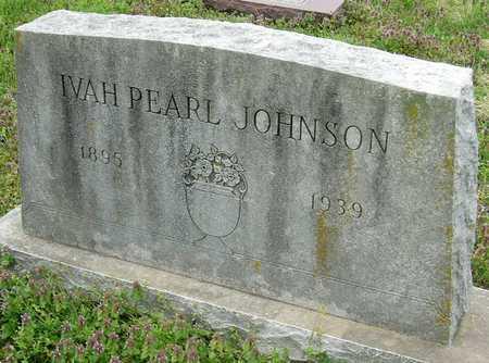 JOHNSON, IVAH PEARL - Jasper County, Missouri | IVAH PEARL JOHNSON - Missouri Gravestone Photos