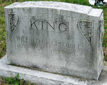 KING, WILFRED FRANCES - Jasper County, Missouri | WILFRED FRANCES KING - Missouri Gravestone Photos