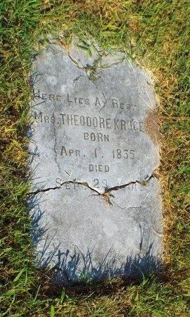 KRUGER, MRS THEODORE - Jasper County, Missouri | MRS THEODORE KRUGER - Missouri Gravestone Photos