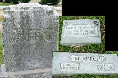 MCAHRON, IDA F - Jasper County, Missouri | IDA F MCAHRON - Missouri Gravestone Photos
