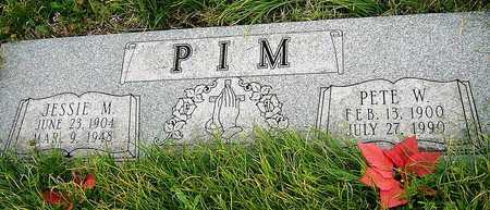 OAKES PIM, JESSIE MAY - Jasper County, Missouri   JESSIE MAY OAKES PIM - Missouri Gravestone Photos