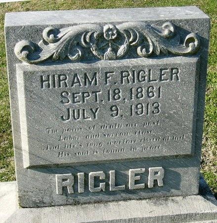 RIGLER, HIRAM F - Jasper County, Missouri   HIRAM F RIGLER - Missouri Gravestone Photos