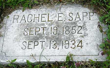LAYMAN SAPP, RACHEL ELIZABETH - Jasper County, Missouri | RACHEL ELIZABETH LAYMAN SAPP - Missouri Gravestone Photos