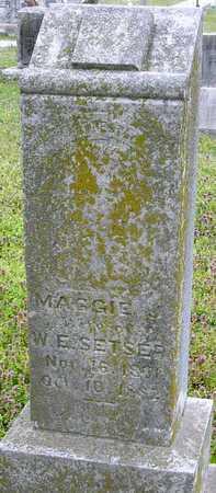 SETSER, MAGGIE J - Jasper County, Missouri | MAGGIE J SETSER - Missouri Gravestone Photos
