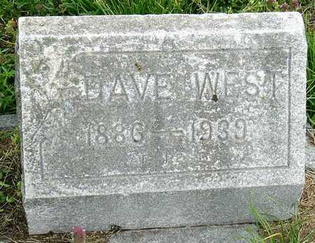 WEST, DAVE - Jasper County, Missouri | DAVE WEST - Missouri Gravestone Photos