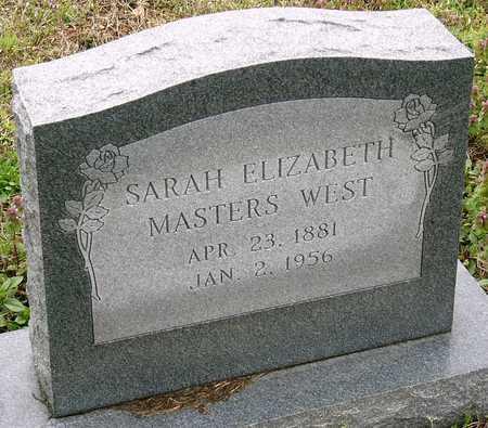 MASTERS WEST, SARAH ELIZABETH - Jasper County, Missouri   SARAH ELIZABETH MASTERS WEST - Missouri Gravestone Photos
