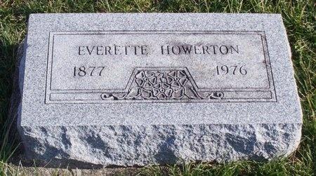 "HOWERTON, EVERETTE JENNIE ""JOE"" - Knox County, Missouri | EVERETTE JENNIE ""JOE"" HOWERTON - Missouri Gravestone Photos"