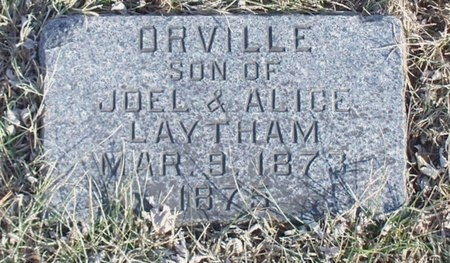 LAYTHAM, ORVILLE - Knox County, Missouri   ORVILLE LAYTHAM - Missouri Gravestone Photos