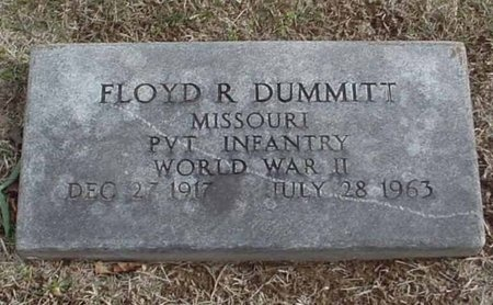 DUMMITT, FLOYD R (VETERAN WWII) - Lawrence County, Missouri   FLOYD R (VETERAN WWII) DUMMITT - Missouri Gravestone Photos