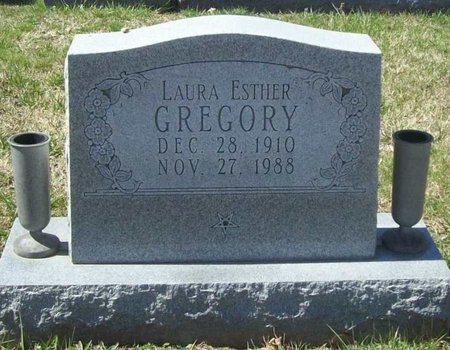 GREGORY, LAURA ESTHER - Lawrence County, Missouri   LAURA ESTHER GREGORY - Missouri Gravestone Photos