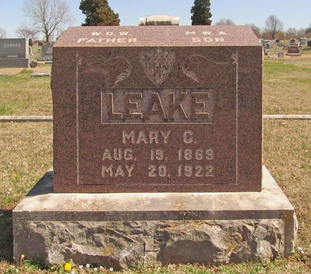 MILLER LEAKE, MARY C - Lawrence County, Missouri | MARY C MILLER LEAKE - Missouri Gravestone Photos