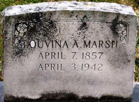 MARSH, LOUVINA A - Lawrence County, Missouri | LOUVINA A MARSH - Missouri Gravestone Photos