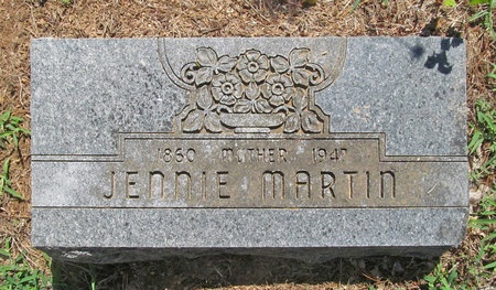 MARTIN, JENNIE - Lawrence County, Missouri | JENNIE MARTIN - Missouri Gravestone Photos