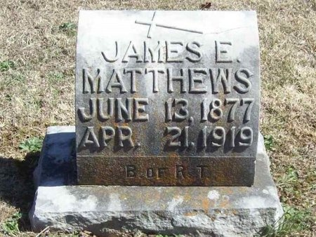 MATTHEWS, JAMES E. - Lawrence County, Missouri | JAMES E. MATTHEWS - Missouri Gravestone Photos