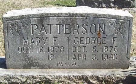 PATTERSON, GEORGE F. - Lawrence County, Missouri | GEORGE F. PATTERSON - Missouri Gravestone Photos