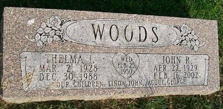 WOODS, THELMA I. - Lawrence County, Missouri | THELMA I. WOODS - Missouri Gravestone Photos