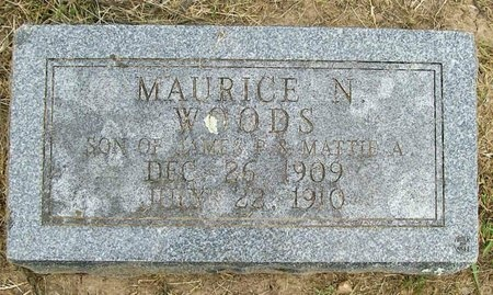 WOODS, MAURICE N. - Lawrence County, Missouri | MAURICE N. WOODS - Missouri Gravestone Photos