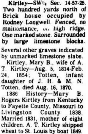 TOTTEN, INFANT DAUGHTER - Livingston County, Missouri | INFANT DAUGHTER TOTTEN - Missouri Gravestone Photos