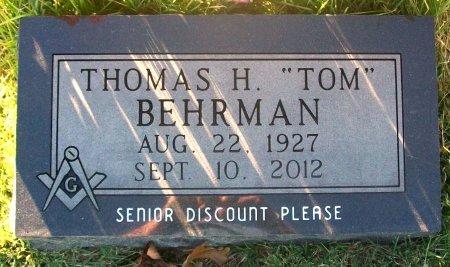 "BEHRMAN, THOMAS HENRY ""TOM"" - Macon County, Missouri | THOMAS HENRY ""TOM"" BEHRMAN - Missouri Gravestone Photos"