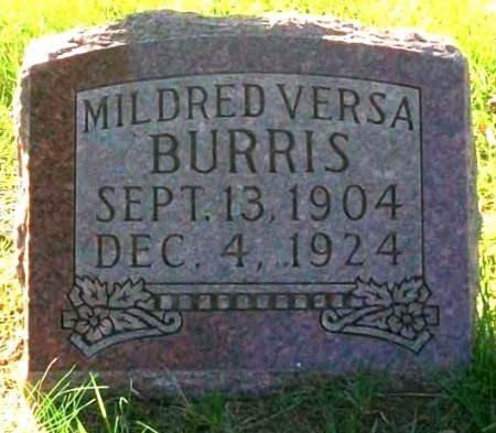 BURRIS, MILDRED VERSA - Macon County, Missouri | MILDRED VERSA BURRIS - Missouri Gravestone Photos