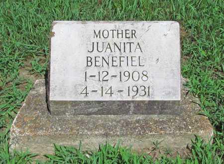 BENEFIEL, JUANITA - McDonald County, Missouri   JUANITA BENEFIEL - Missouri Gravestone Photos