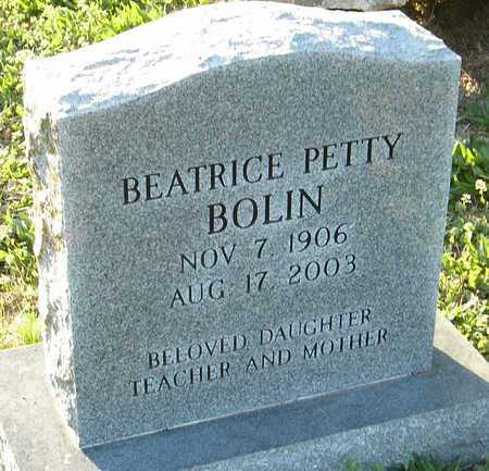 BOLIN, BEATRICE - McDonald County, Missouri | BEATRICE BOLIN - Missouri Gravestone Photos