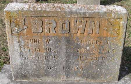 BROWN, PHOEBA C - McDonald County, Missouri | PHOEBA C BROWN - Missouri Gravestone Photos