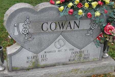 COWAN, DONNIE FRANKLIN - McDonald County, Missouri | DONNIE FRANKLIN COWAN - Missouri Gravestone Photos