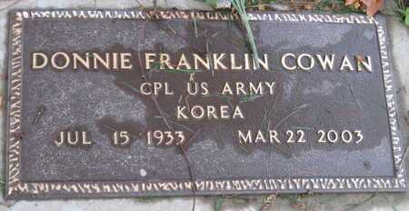 COWAN, DONNIE FRANKLIN VETERAN KOREA - McDonald County, Missouri | DONNIE FRANKLIN VETERAN KOREA COWAN - Missouri Gravestone Photos