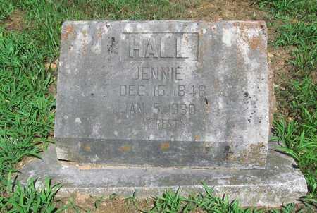 HALL, JENNIE - McDonald County, Missouri | JENNIE HALL - Missouri Gravestone Photos