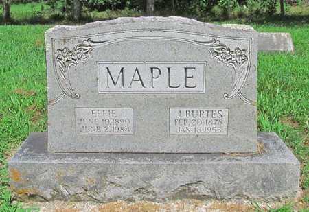 MAPLE, J BURTES - McDonald County, Missouri   J BURTES MAPLE - Missouri Gravestone Photos