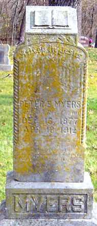 MYERS, PETER E - McDonald County, Missouri | PETER E MYERS - Missouri Gravestone Photos