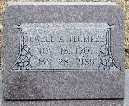 PLUMLEE, JEWELL A - McDonald County, Missouri   JEWELL A PLUMLEE - Missouri Gravestone Photos