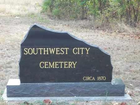 *SOUTHWEST CITY CEMETERY, . - McDonald County, Missouri   . *SOUTHWEST CITY CEMETERY - Missouri Gravestone Photos