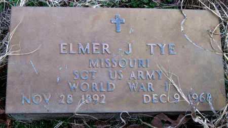 TYE, ELMER J (VETERAN WWI) - McDonald County, Missouri | ELMER J (VETERAN WWI) TYE - Missouri Gravestone Photos