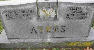 AYERS, THOMAS CARROLL - Morgan County, Missouri   THOMAS CARROLL AYERS - Missouri Gravestone Photos