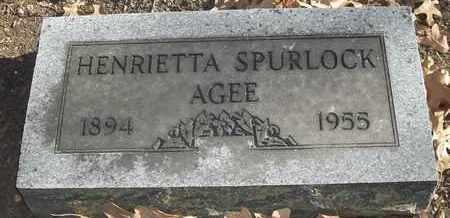 SPURLOCK AGEE, HENRIETTA - Morgan County, Missouri   HENRIETTA SPURLOCK AGEE - Missouri Gravestone Photos
