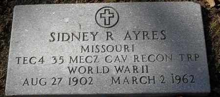 AYRES, SIDNEY R VETERAN - Morgan County, Missouri | SIDNEY R VETERAN AYRES - Missouri Gravestone Photos