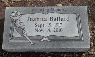 BALLARD, JUANITA - Morgan County, Missouri | JUANITA BALLARD - Missouri Gravestone Photos