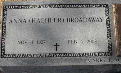 HACHLER BROADAWAY, ANNA - Morgan County, Missouri   ANNA HACHLER BROADAWAY - Missouri Gravestone Photos