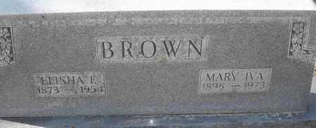 BROWN, MARY IVA - Morgan County, Missouri | MARY IVA BROWN - Missouri Gravestone Photos